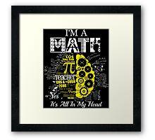 MATH TEACHER Framed Print