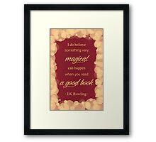JK Rowling Quote 2 - Gryffindor Color Framed Print