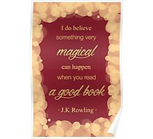 JK Rowling Quote 2 - Gryffindor Color Poster