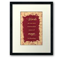 JK Rowling Quote - Gryffindor Color Framed Print