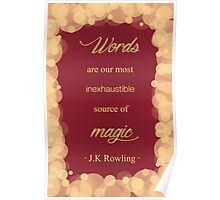 JK Rowling Quote - Gryffindor Color Poster