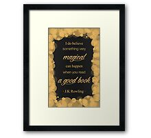 JK Rowling Quote 2 - Hufflepuff Color Framed Print