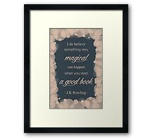 JK Rowling Quote 2 - Ravenclaw Color Framed Print