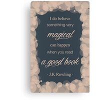 JK Rowling Quote 2 - Ravenclaw Color Canvas Print