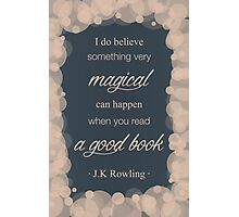 JK Rowling Quote 2 - Ravenclaw Color Photographic Print