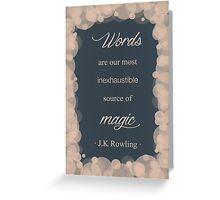 JK Rowling Quote - Ravenclaw Color Greeting Card
