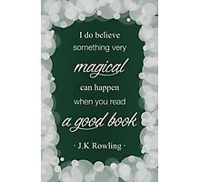 JK Rowling Quote 2 - Slytherin Color Photographic Print