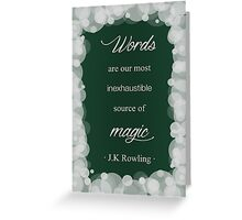 JK Rowling Quote - Slytherin Color Greeting Card