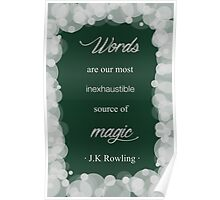 JK Rowling Quote - Slytherin Color Poster
