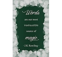 JK Rowling Quote - Slytherin Color Photographic Print