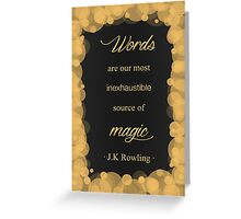 JK Rowling Quote - Hufflepuff Color Greeting Card