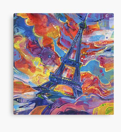 Eiffel's tower painting - 2014 Canvas Print