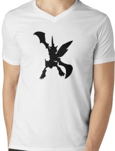 Scyther silhouette Mens V-Neck T-Shirt