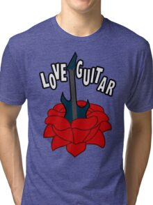 Love Guitar Tri-blend T-Shirt