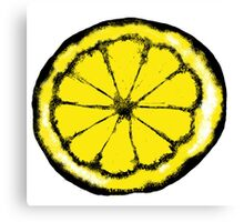 Lemon in the style of stone roses Canvas Print
