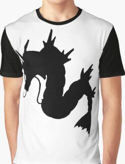 Gyarados Silhouette Graphic T-Shirt
