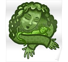 Green Snuggle Poster