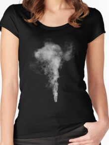 smoke (1) Women's Fitted Scoop T-Shirt