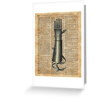 Robo Hand,Artifical Arm Dictionary Art Greeting Card