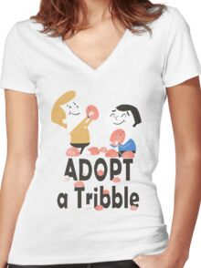 Adopt a Tribble Women's Fitted V-Neck T-Shirt