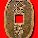Japanese 100 Mon Coin by Kawka