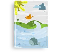 Nature with its habitants Canvas Print