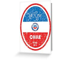 World Cup Football - Chile Greeting Card