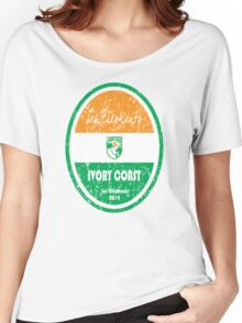 World Cup Football - Ivory Coast Women's Relaxed Fit T-Shirt
