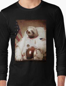 Sloth Astronaut Long Sleeve T-Shirt