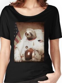 Sloth Astronaut Women's Relaxed Fit T-Shirt