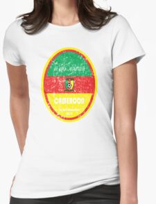 World Cup Football - Cameroon Womens Fitted T-Shirt