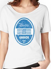 World Cup Football - Greece Women's Relaxed Fit T-Shirt