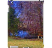 Restful Bench Beside Lake iPad Case/Skin