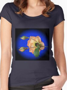 Orange Wildfire - Rose and Buds Women's Fitted Scoop T-Shirt