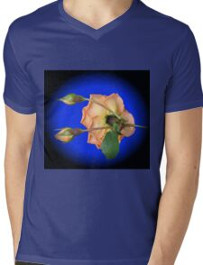 Orange Wildfire - Rose and Buds Mens V-Neck T-Shirt