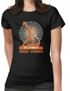 SOVIET RED ARMY SCULPTURE Womens Fitted T-Shirt