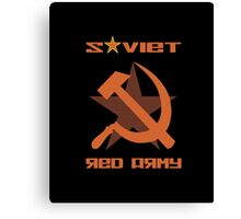 SOVIET RED ARMY HAMMER & SICKLE Canvas Print