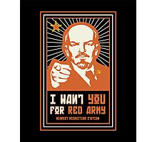 SOVIET RED ARMY I WANT YOU Photographic Print