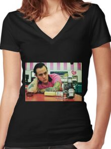 Boy In A Box Women's Fitted V-Neck T-Shirt