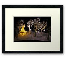 Witches Magic Garden book sculpture Framed Print