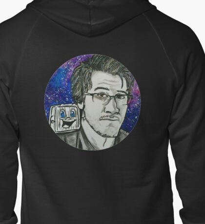 Markiplier And Tiny Box Tim Zipped Hoodie
