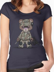 THE PAW (Tan) Women's Fitted Scoop T-Shirt
