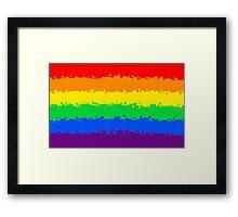 Gay Pride Flag- Retro Framed Print