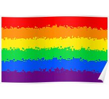 Gay Pride Flag- Retro Poster