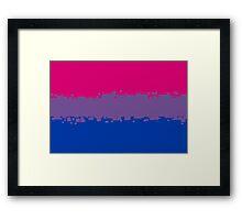Bisexual Pride Flag Framed Print