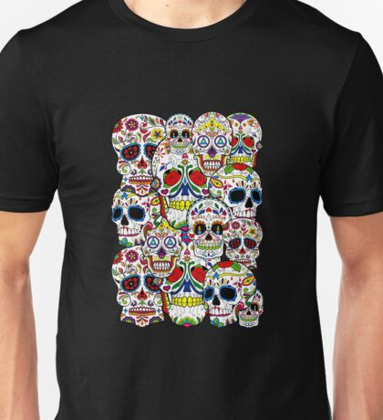 Sugar skull collage 2 Unisex T-Shirt