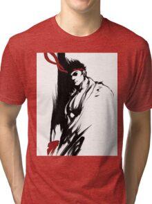 Ryu Stain style Tri-blend T-Shirt
