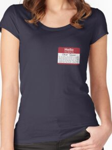 Name's Oliver Women's Fitted Scoop T-Shirt