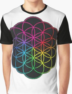 Coldplay Symbol - Multicolored  Graphic T-Shirt