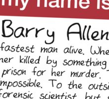 Name's Barry Sticker